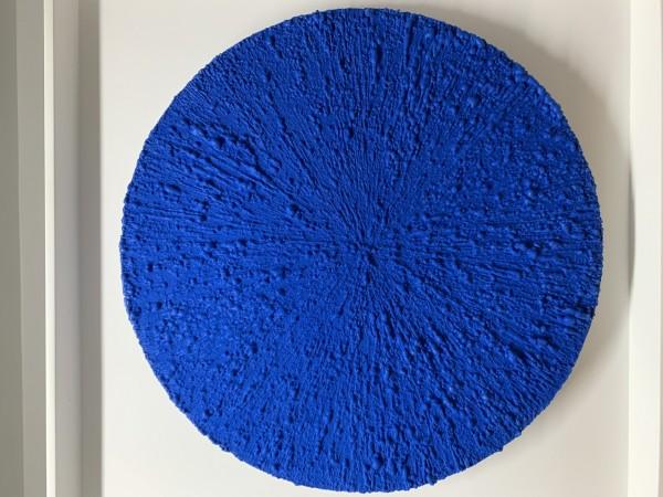 Poliuretano e têxtil s/ madeira 90X90cm [EB116]